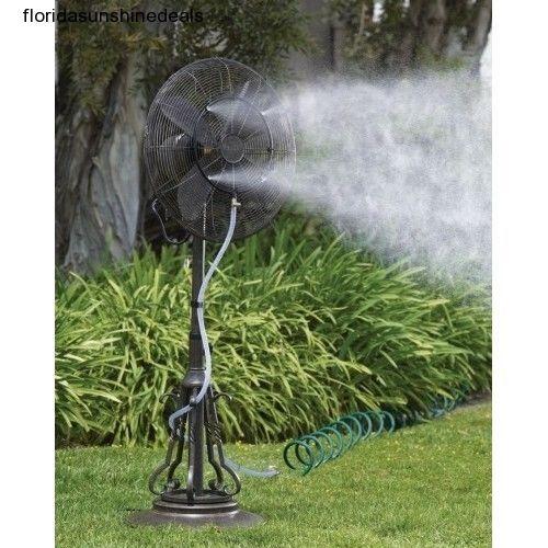 Outdoor Misting Fan Garden Sprinkler Kit Patio Cooling