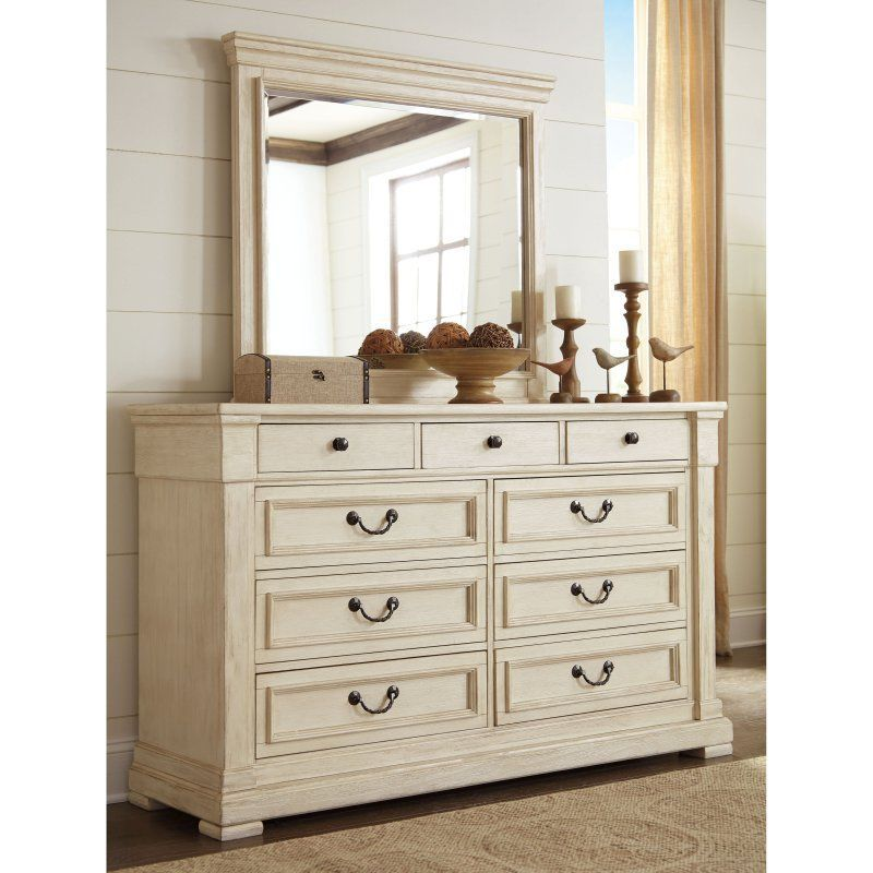 Best Signature Design By Ashley Bolanburg 9 Drawer Dresser With Optional Mirror Ashy3239 White 400 x 300