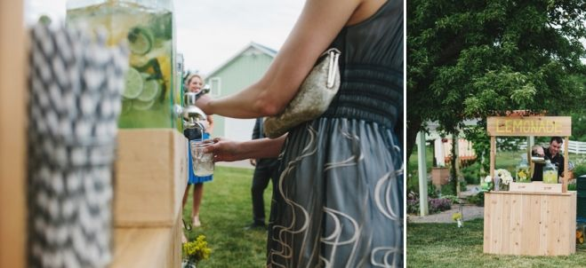 Lemonade stand. Wedding beverage stand. Chevron straws. Outdoor Michigan wedding. Destination Wedding. Ceremony ideas. Detroit area wedding photographers.
