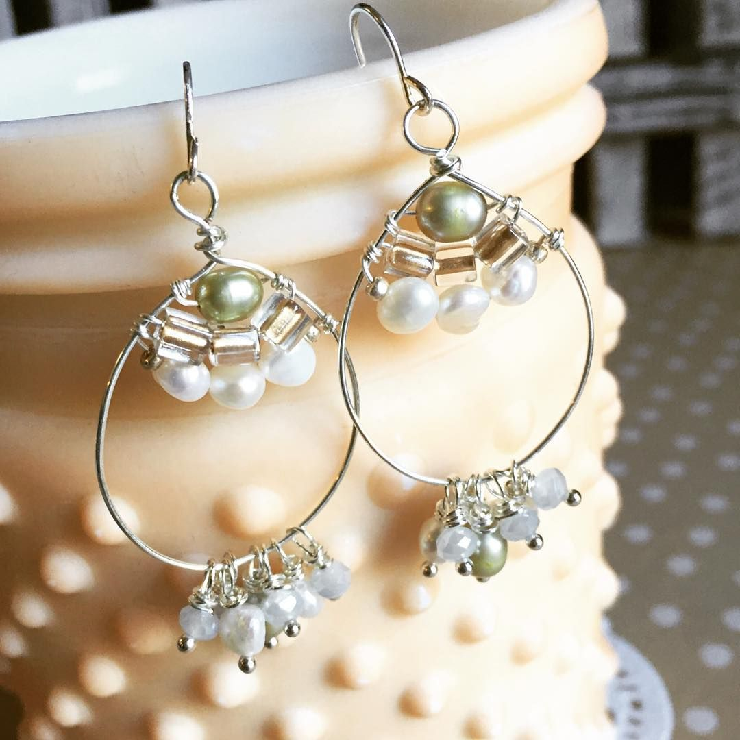 simplicity meets #bohemian with these beaded #pearl chandelier ...