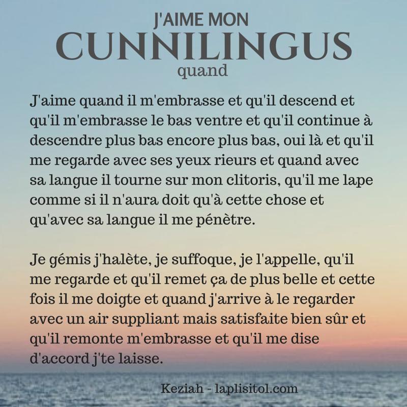 Literary description cunnilingus