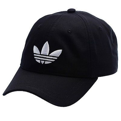 54ab949df62 NEW Adidas Originals Classic Trefoil Black Baseball Cap - ONE SIZE - hat