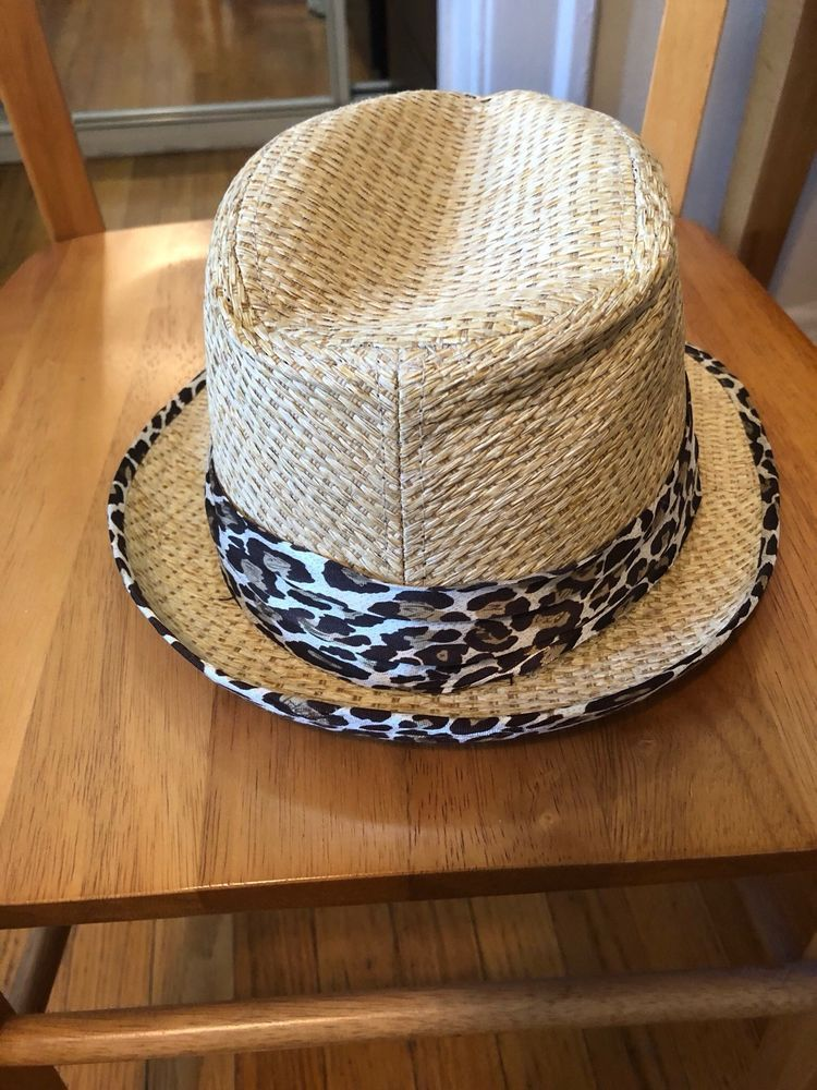 Charming Charlie Fedora Hat One Size Fits Tan and Leopard Print Band   fashion  clothing  shoes  accessories  womensaccessories  hats (ebay link) 9beefc2ddc4