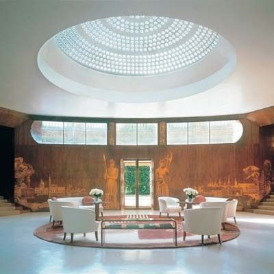 The entrance hall at Eltham Palace, an Art Deco masterpiece in South London    # Pinterest++ for iPad #