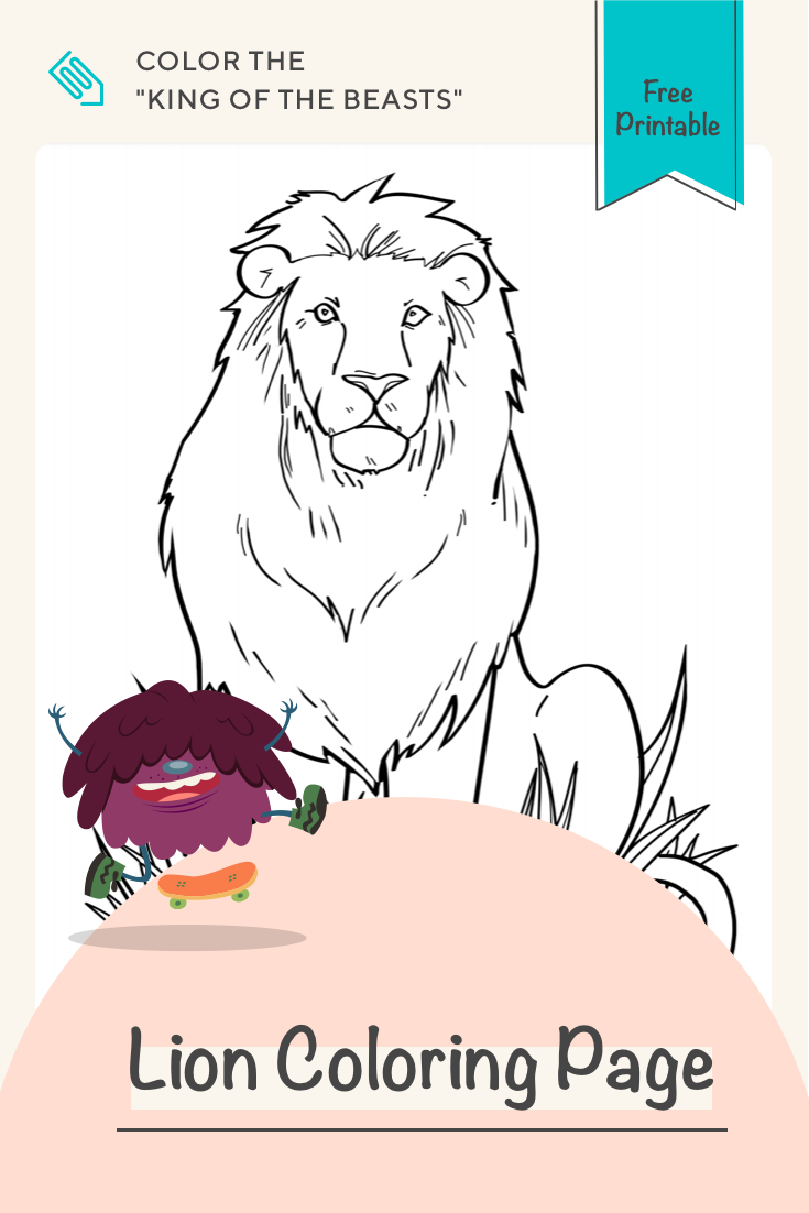 medium resolution of Lion   Worksheet   Education.com   Lion coloring pages