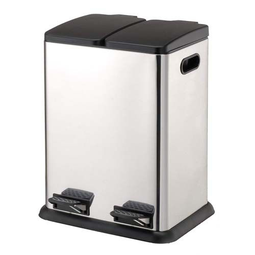 Two Compartment trash & recycle bin | Kitchen trash cans ...