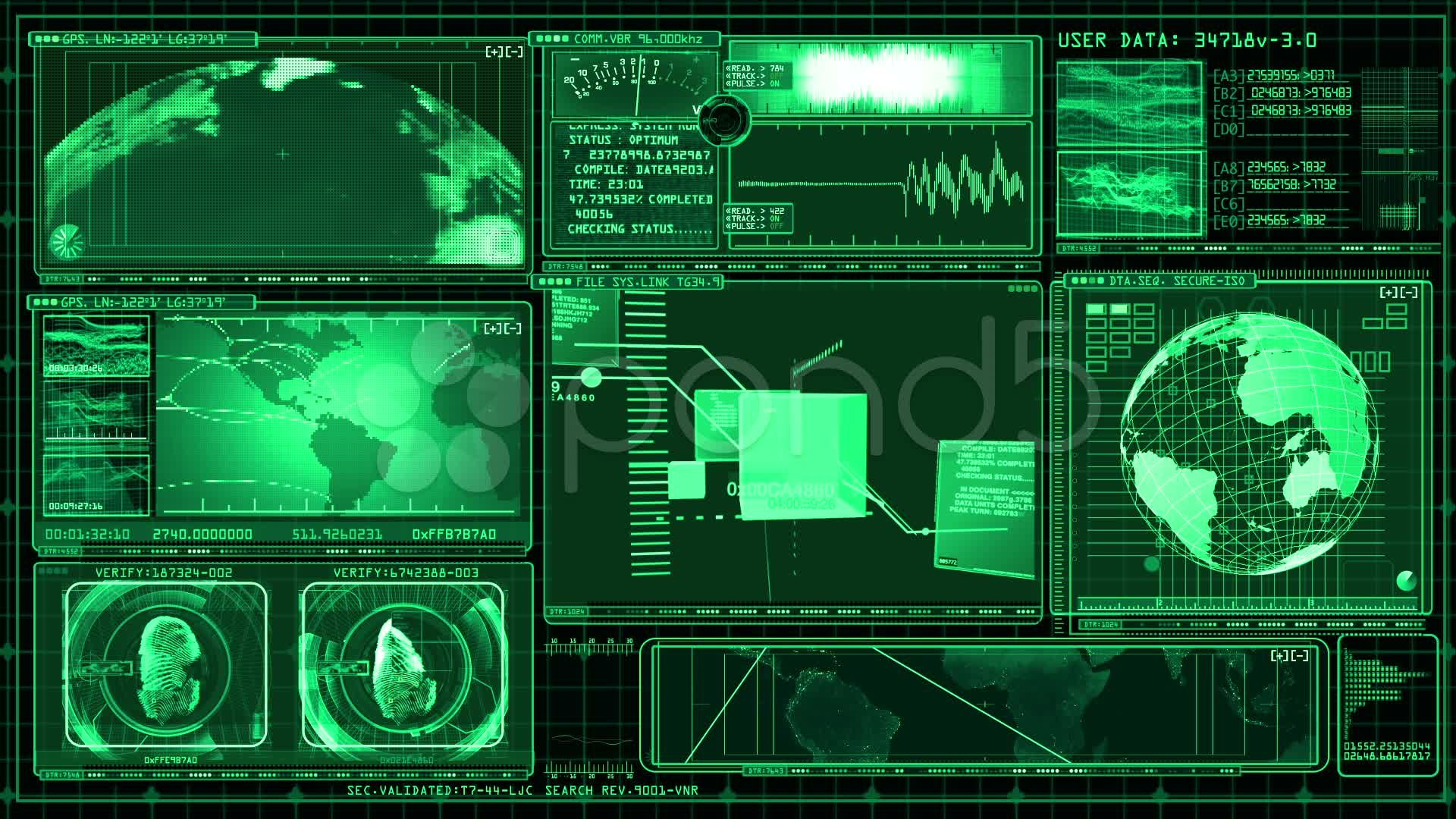 Carte Science Fiction Technology Interface Computer Data