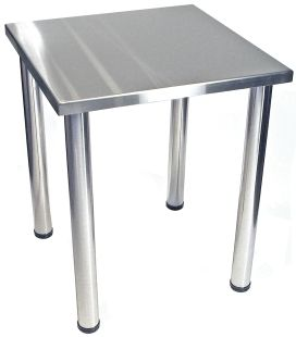 Exceptional Stainless Steel Table Top Chrome Table Legs