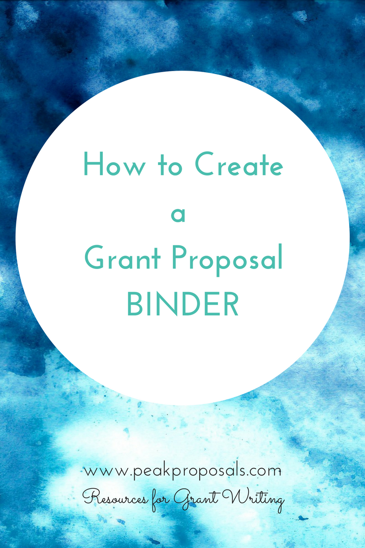 how to create a proposal binder blog posts peak proposals