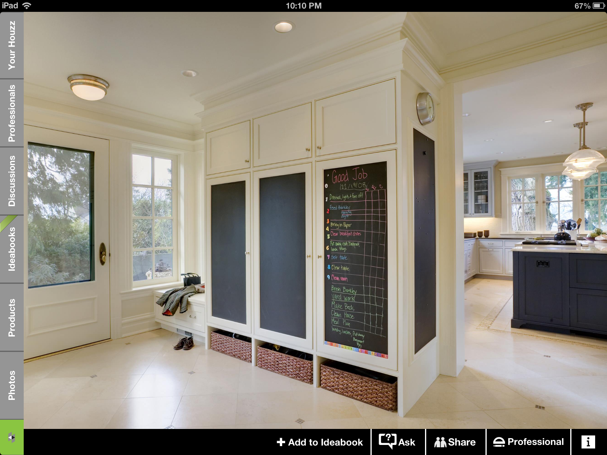 Chalk board mud room suggestion renovation pinterest mud rooms