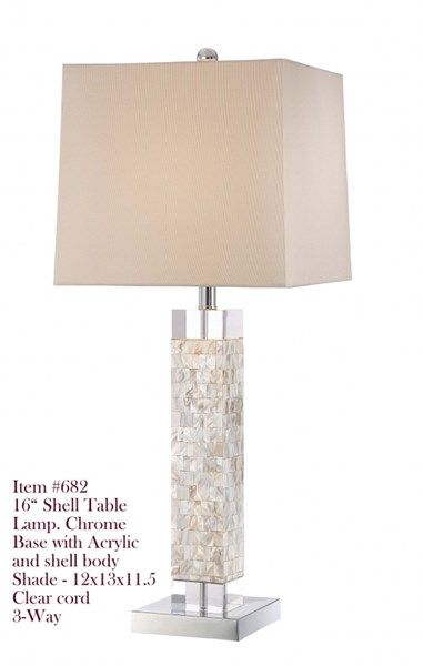 Brooklyn Mother Pearl Table Lamp W 3 Way Switch Modern Furniture
