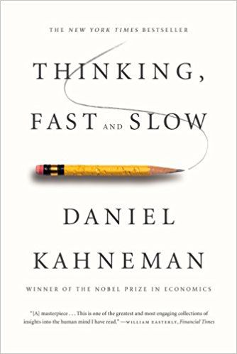 Thinking, Fast and Slow: Daniel Kahneman: 9780374533557: Amazon.com: Books  In the international bestseller, Thinking, Fast and Slow, Daniel Kahneman, the renowned psychologist and winner of the Nobel Prize in Economics, takes us on a groundbreaking tour of the mind and explains the two systems that drive the way we think. System 1 is fast, intuitive, and emotional; System 2 is slower, more deliberative, and more logical.
