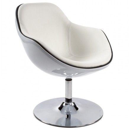Fauteuil design RHONE rotatif (blanc) | Fauteuil design