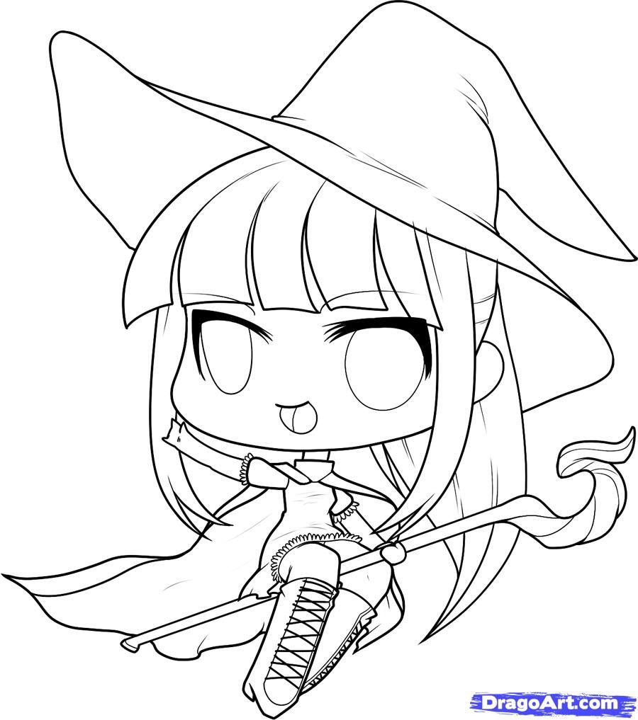 Halloween chibi witch google search halloween cookies how to draw a halloween witch halloween witch step 9 biocorpaavc