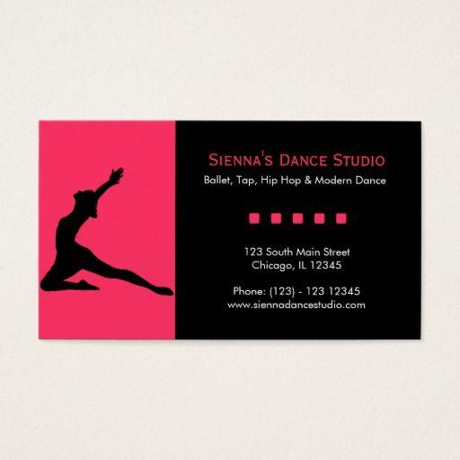 Dance studio business card dance studio business cards and dancing dance studio business card colourmoves