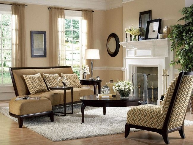 Chairs upholstered in neutral-colored fabric