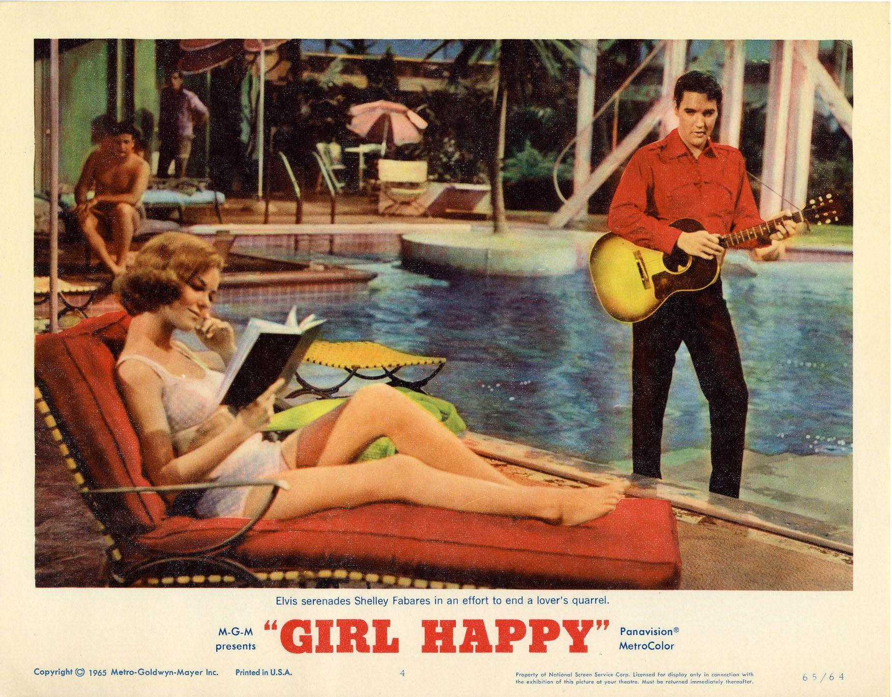 Elvis presley girl happy movie poster 1964 elvis elvis