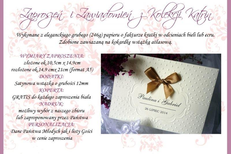 Ekspres Zaproszenia Na ślub Tłoczone ślubne Kopert Zaproszenia