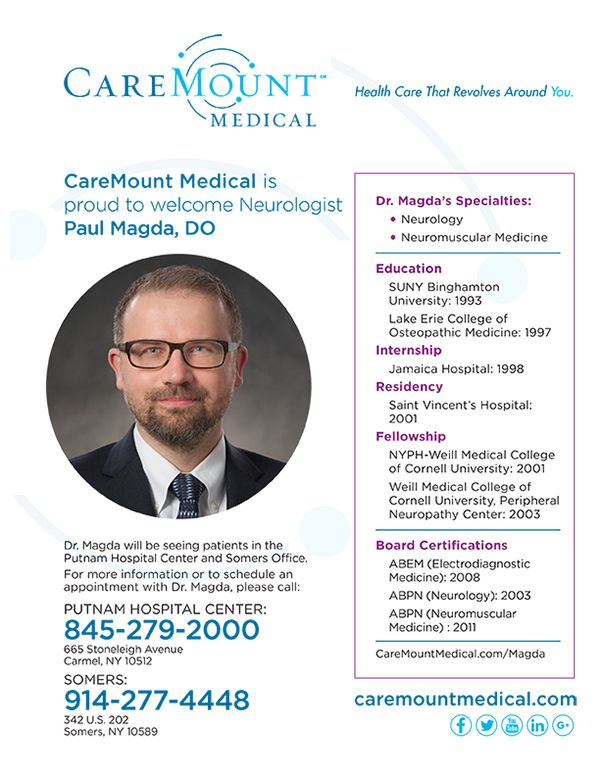 Caremount Medical Welcomes Neurologist Paul Magda Dp Welcoming