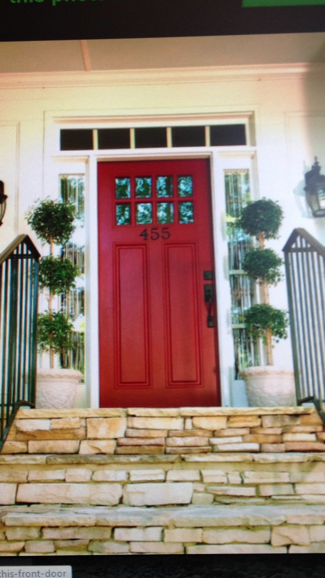 Red Front Door from www.houzz.com | For The Home | Pinterest | Houzz ...