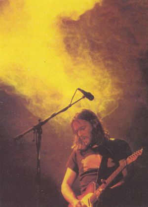 David Gilmour during a live performance while touring with Pink Floyd, United Kingdom, 1980, photographer unknown.