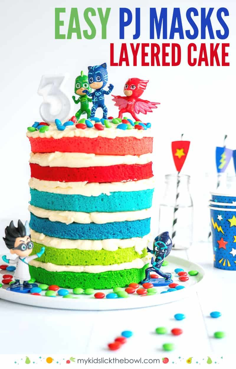 Pj Masks Cake Recipe Little Girl Birthday Cakes Birthday Cake