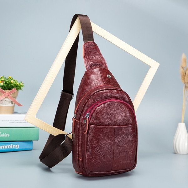 ec09c7857e3 Sale 15% (36.99$) - Men Genuine Leather Crossbody Bag Outdoor Leisure Retro  Backpack   Men's Bags Crossbody Bags - Retro backpack, Leather crossbody bag  en ...