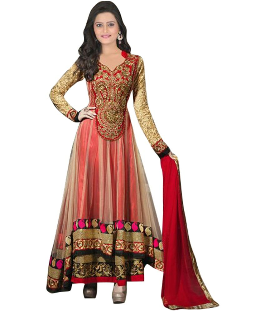 Red heavy bridal anarkali frock 7 suitanarkali in - Anarkali Suits The Perfect Indian Party Wear Dress