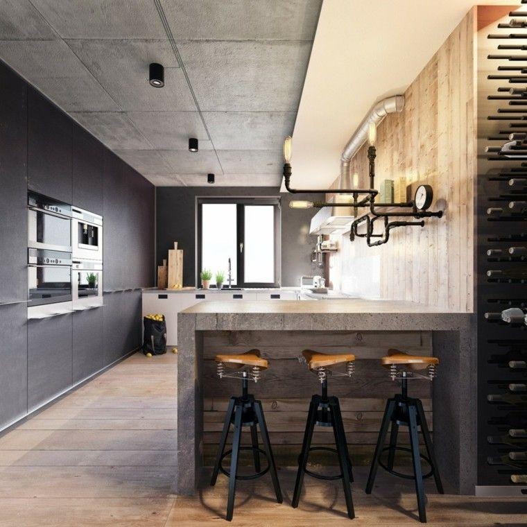 Resultado de imagen para cocina pequeña estilo industrial | diseño ...