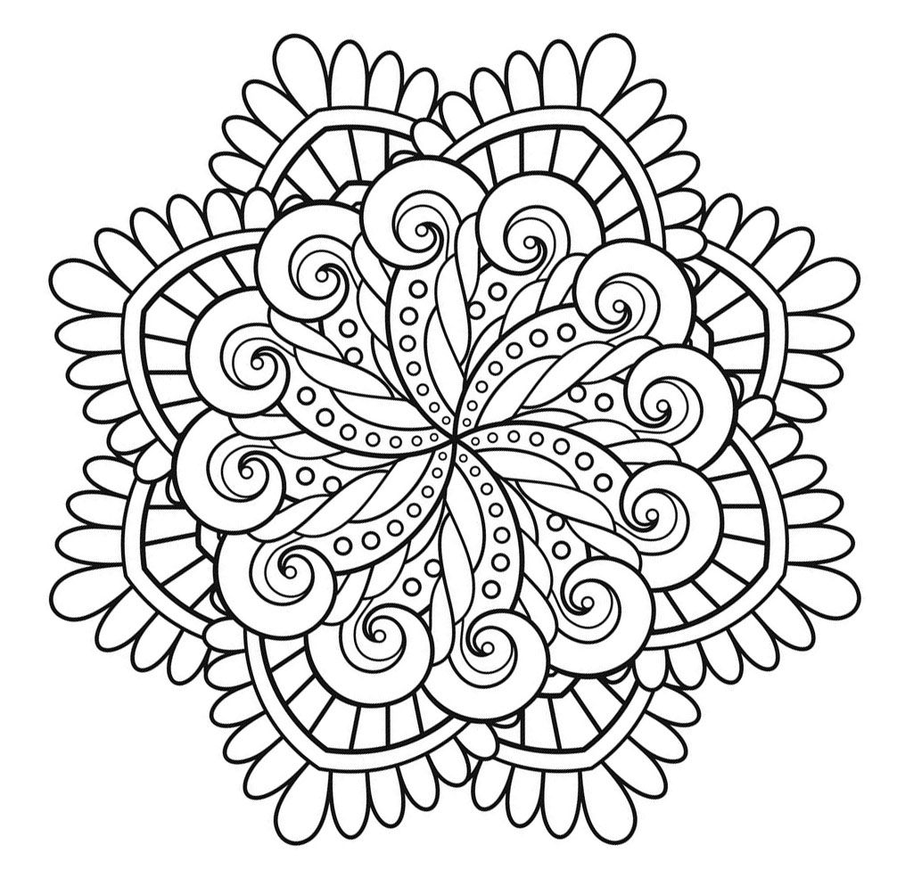 Here are Difficult Mandalas Coloring pages for adults to print for free.  Mandala is a Sanskrit word whic… | Mandala coloring books, Coloring pages,  Mandala coloring