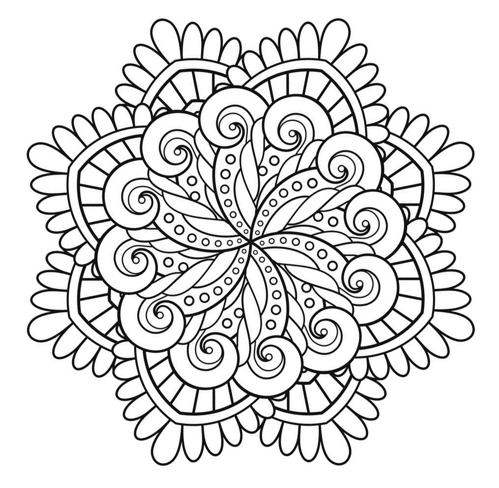 Voici des Mandalas difficiles pour adultes à imprimer
