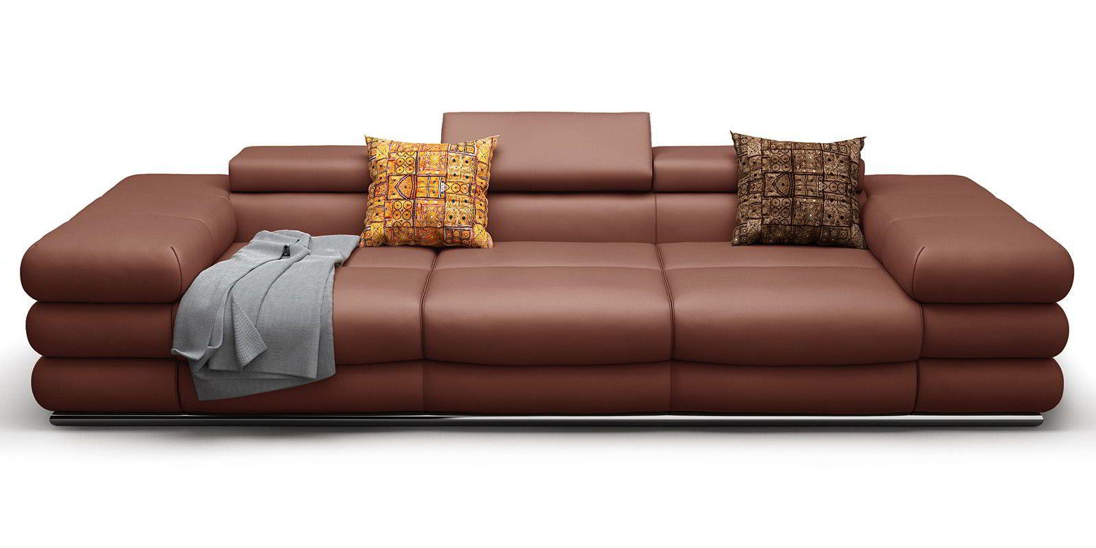 3 Sitzer Ledersofa Lyon Designer Couch Xxl Sofa Ledersofa Sofa