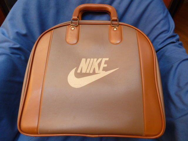 Vintage Nike Single Bowling Ball Bag Two Tone Carrier Retro Sport Decor Bags Bowling Ball Bags Retro Sport