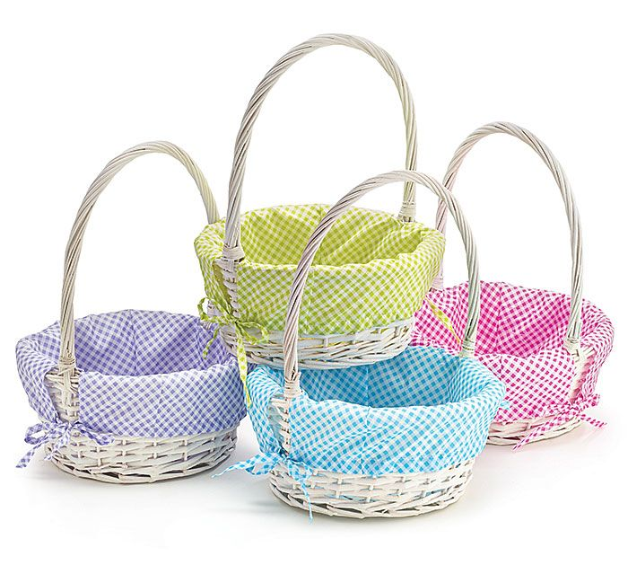 Personalized gingham white willow easter basket our products personalized gingham white willow easter basket negle Image collections