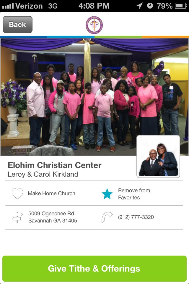 Places of Worship Church Giving App Church