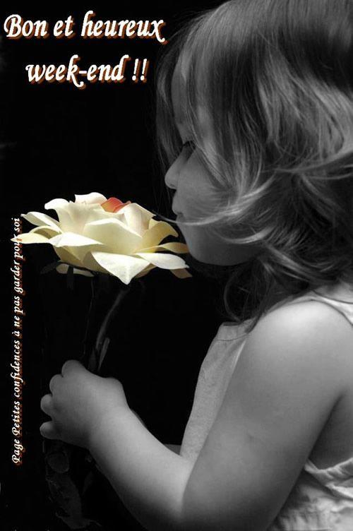 Bon et heureux week-end! | Pensée fleur, Bon week end image, Image noir et  blanc