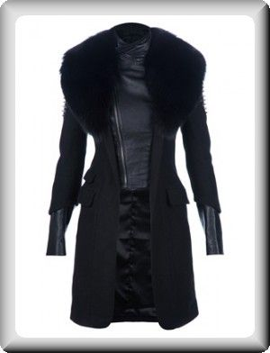 98e4c591f Philipp Plein Women s Black Leather Long Coat Jacket