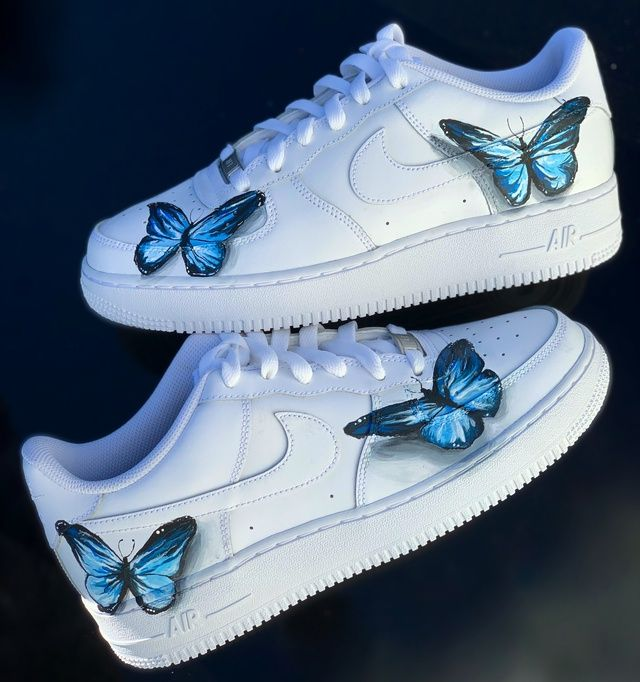 lil skies 3D butterfly custom AF1's in 2020 | Hype shoes