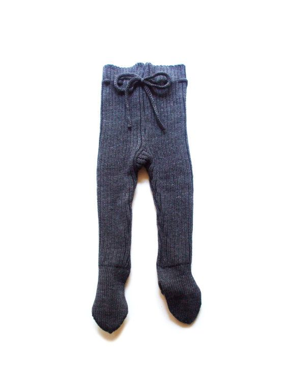 d7f351f15804 Baby merino wool pants with feet footed leggings trousers with feet ...