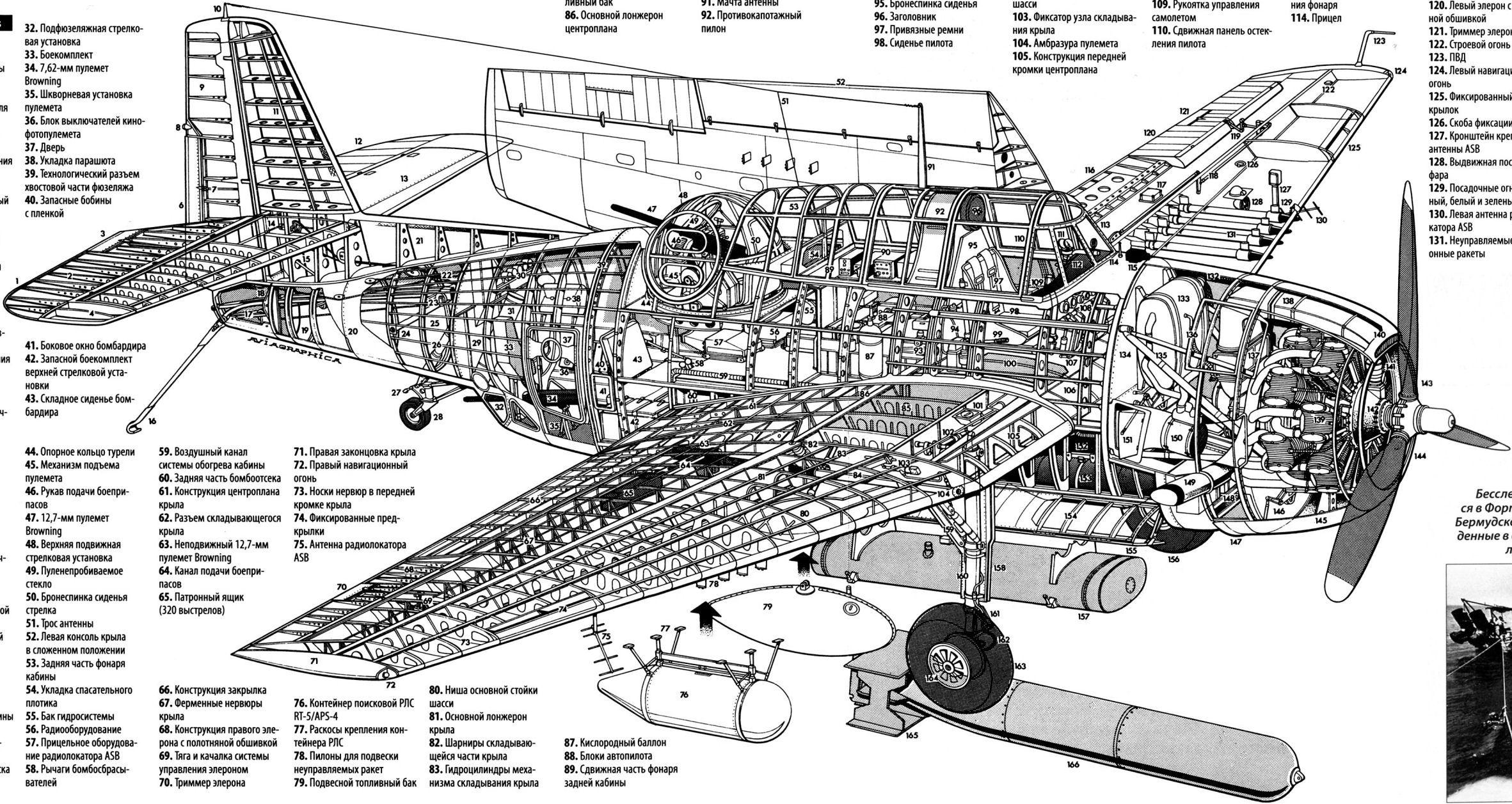 Aircarft Cutaway Avion Militaire Seconde Guerre Mondiale Guerre 39 45