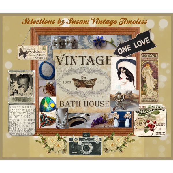 SELECTIONS BY SUSAN: VINTAGE TIMELESS by andreadesigns1 on Polyvore featuring interior, interiors, interior design, home, home decor, interior decorating, Avon and vintage