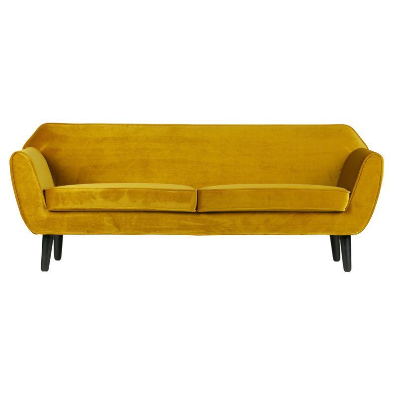 Sofa 2 Sitzer Rocco Samt Ockergelb In 2020 Samt Sofa Sofa Gelb
