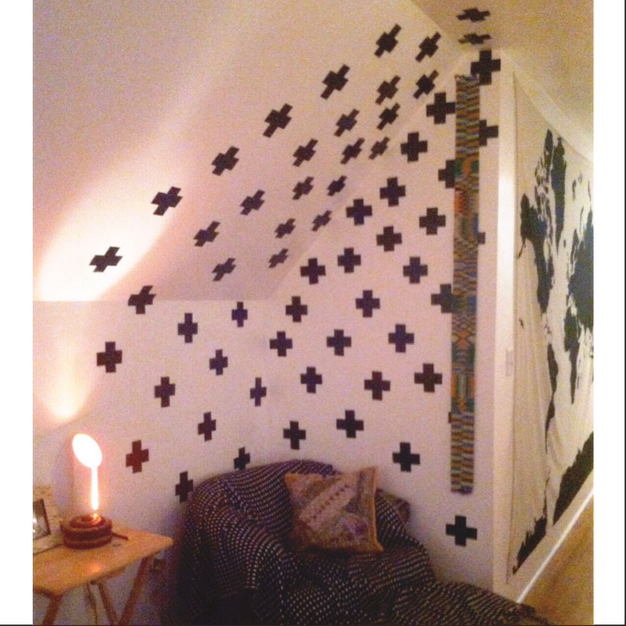 Diy Black And White Accent Wall Made With Duct Tape Diy Ducttape Statementwall Diy Decor Home Diy Home Decor
