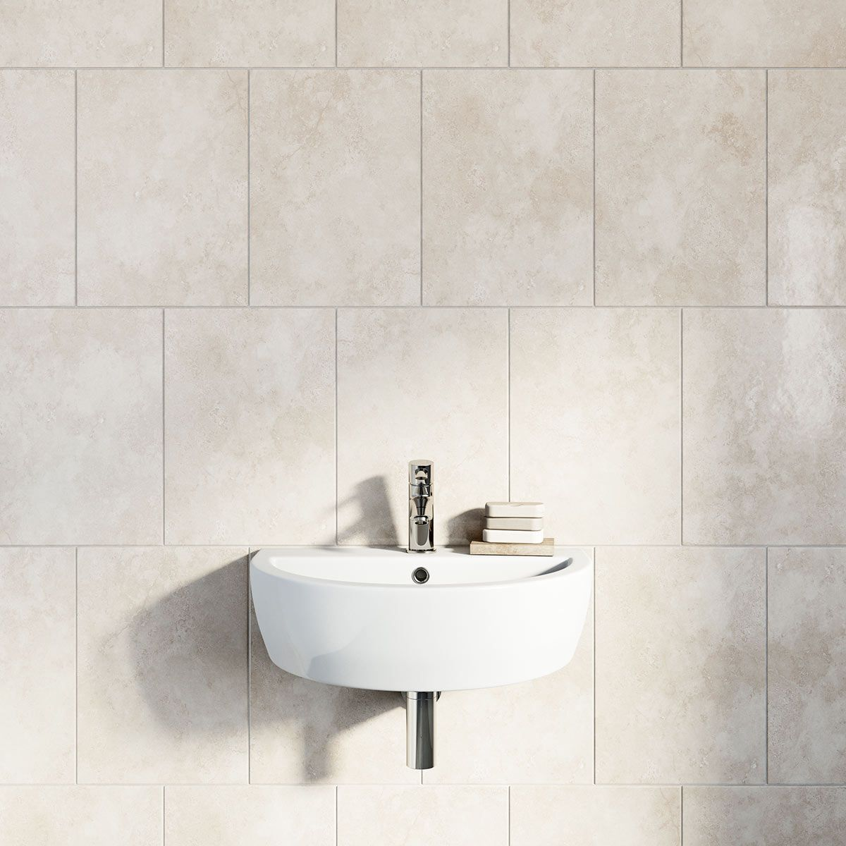 British Ceramic Tile Earth stone beige gloss tile 300mm x 416mm ...