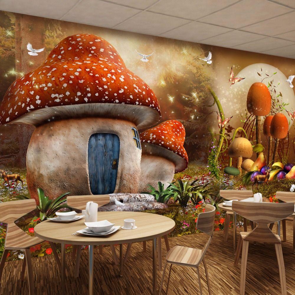 Image Result For Fantasy Themed Indoor Play Area Indoor  -> Papel De Parede Para Sala De Trabalho