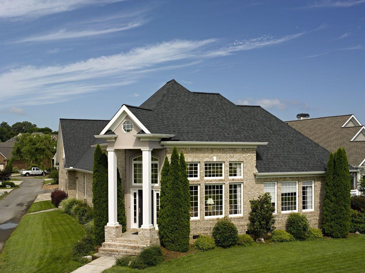 Best Landmark In Moire Black Certainteed In 2019 Roof Design 400 x 300