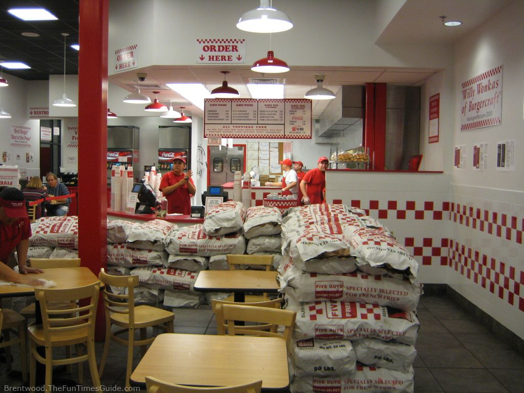 Five Guys Is Famous For Their Burgers And Fries And Theyre Located On Antelope Dr Across The Street And North Of Target