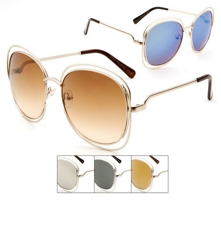 f0700eb0bd Large Oversized Vintage Retro Hippie Round Circle Women Sunglasses in  Clothing