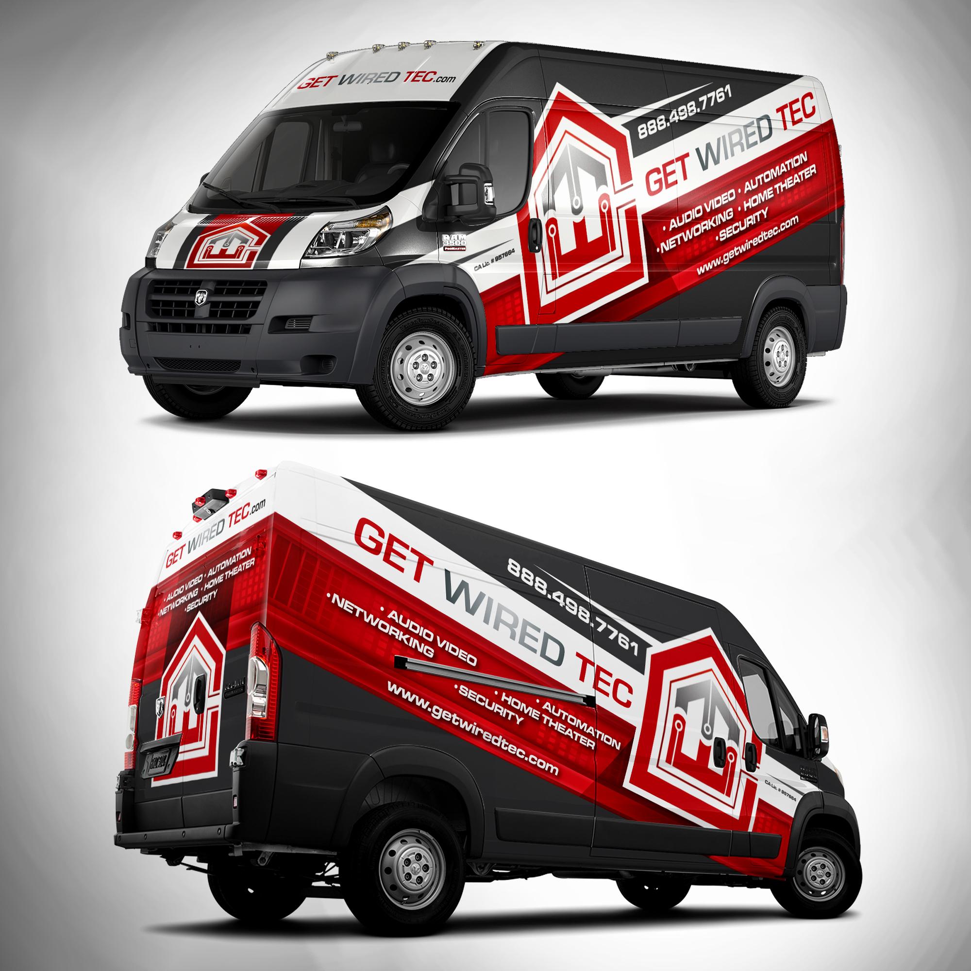 GWT RAM Promaster Wrap Zzz Wrap Van Wrap Van Design
