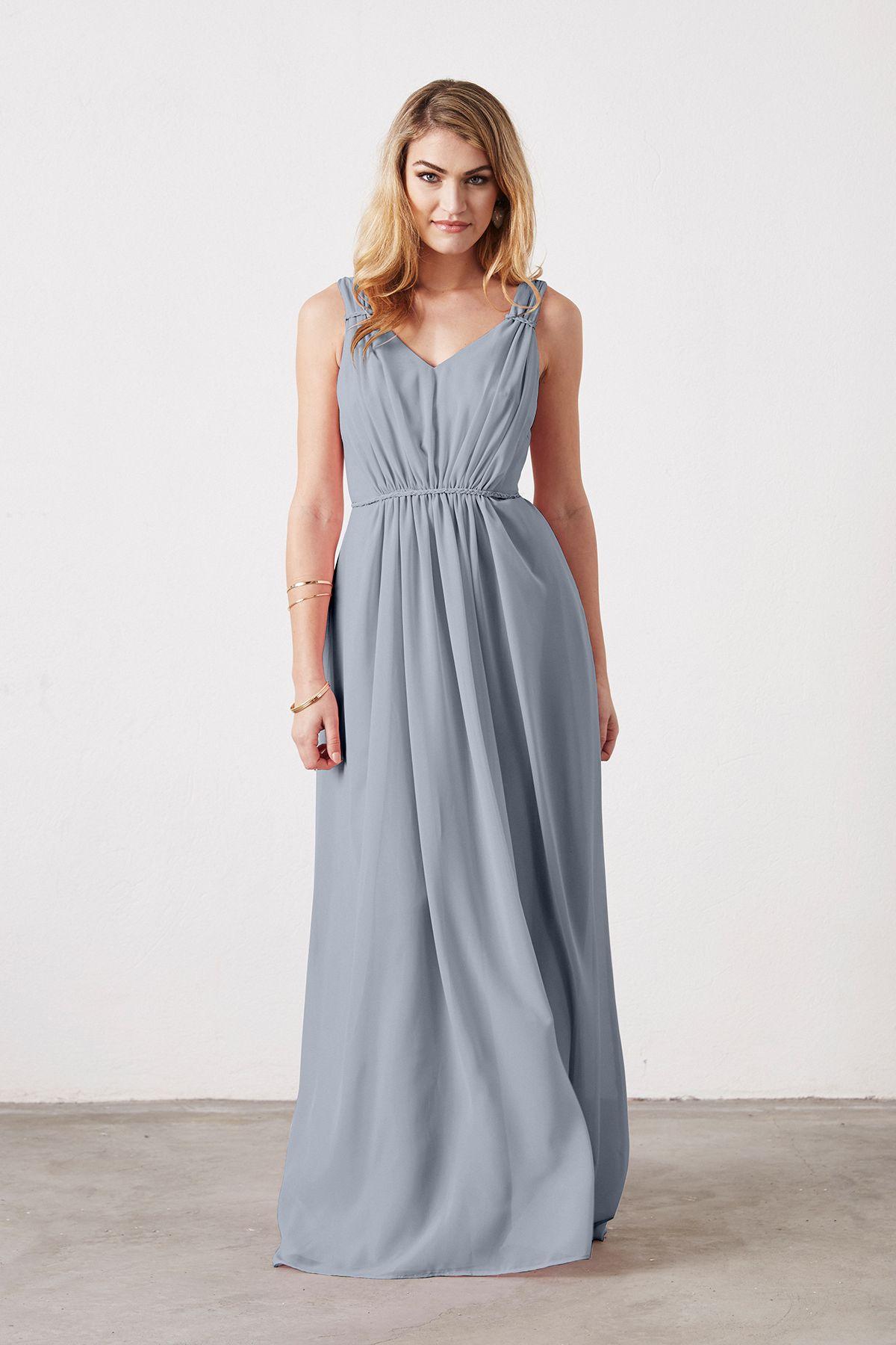 e6bcf0418a4 Weddington Way Juliette Bridesmaid Dress in Mystic in Chiffon ...